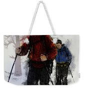 Cross Country Skiers Weekender Tote Bag