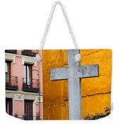 Cross In The City Of Madrid Weekender Tote Bag