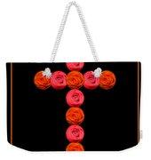 Cross Of Red And Orange Roses Weekender Tote Bag