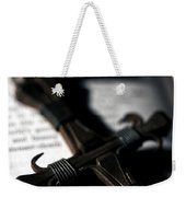 Cross On A Book Weekender Tote Bag by Fabrizio Troiani