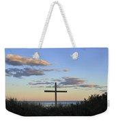Ocean Grove Nj Cross On Beach Weekender Tote Bag