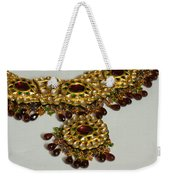 Cross Section Of A Purple And Yellow Gold Beautiful Necklace Weekender Tote Bag by Ashish Agarwal