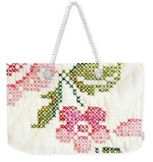 Cross Stitch Flower 1 Weekender Tote Bag