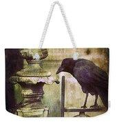 Crow On Iron Gate Weekender Tote Bag