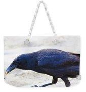 Crow Snacking Weekender Tote Bag