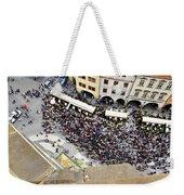 Crowd Forms At Clock Tower - Prague Weekender Tote Bag