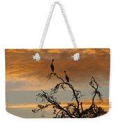 Crowned Cranes At Sunrise Weekender Tote Bag