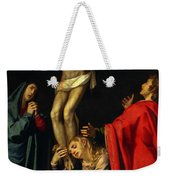 Crucification At Night Weekender Tote Bag