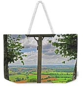 Crucifix Overlooking The French Countryside Weekender Tote Bag
