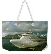 Cruise Ship In Port Weekender Tote Bag