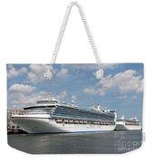 Cruise Ships At Cruiseport Boston Weekender Tote Bag