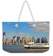 Cruising Past The Freedom Tower Weekender Tote Bag