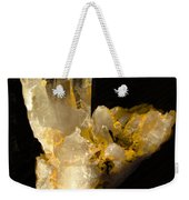 Crystal On Black Weekender Tote Bag by Joyce Dickens