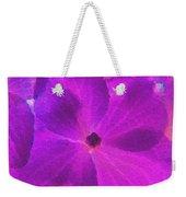 Crystelized Hydrangea Bloom Art Weekender Tote Bag