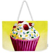 Cupcake With Cherries Weekender Tote Bag