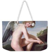 Cupid Sharpening His Arrows Weekender Tote Bag