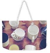 Cups Weekender Tote Bag by Joana Kruse