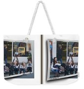 Curb Resting - Gently Cross Your Eyes And Focus On The Middle Image Weekender Tote Bag