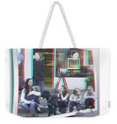 Curb Resting - Red-cyan 3d Glasses Required Weekender Tote Bag