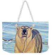 Curiosity - Polar Bear Painting Weekender Tote Bag