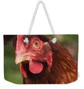 Curious Hen Weekender Tote Bag