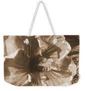 Curly Hibiscus In Sepia Weekender Tote Bag