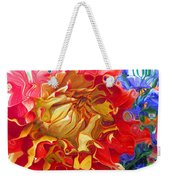 Red And Yellow Dahlia Weekender Tote Bag