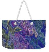 Curlyque Blue Abstract Weekender Tote Bag