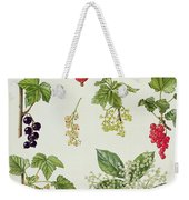 Currants And Berries Weekender Tote Bag by Elizabeth Rice