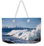 Currumbin Beach Waves On Rocks Weekender Tote Bag