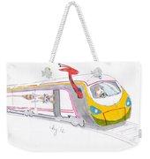 Cute Cartoon High Speed Train And Animals Weekender Tote Bag