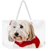 Cute Dog In Santa Outfit Weekender Tote Bag