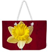 Daffodil In Red Pitcher Weekender Tote Bag