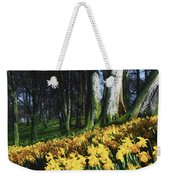 Daffodils Narcissus Flowers In A Forest Weekender Tote Bag
