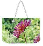 Dahlia Flower Art Print Green Summer Garden Weekender Tote Bag
