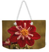 Dahlia Weekender Tote Bag by Sandy Keeton