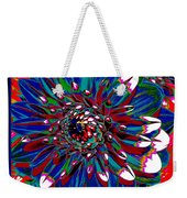 Dahlia With Intense Primaries Effect Weekender Tote Bag
