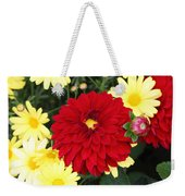 Dahlias And Daisys Weekender Tote Bag