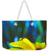 Daisy And Dragonfly Weekender Tote Bag