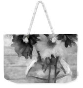 Daisy Crazy Bw Revisited Weekender Tote Bag