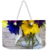 Daisy Crazy Revisited Weekender Tote Bag