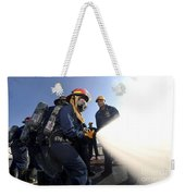 Damage Controlmen Conduct Fire Hose Weekender Tote Bag