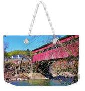 Damaged Covered Bridge Weekender Tote Bag