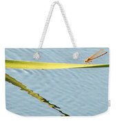Damselfly Reflection Weekender Tote Bag