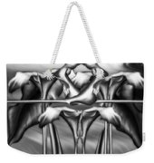 Dance Of The Black And White Calla Lilies Vi Weekender Tote Bag
