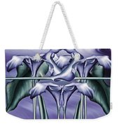 Dance Of The Blue Calla Lilies Iv Weekender Tote Bag