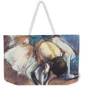 Dancer Fastening Her Pump Weekender Tote Bag by Edgar Degas