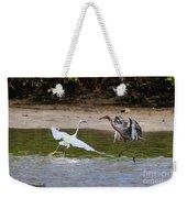 Dancing Egrets Weekender Tote Bag