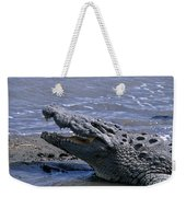 Danger On The Mara River Weekender Tote Bag
