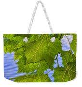 Dangling Leaves Weekender Tote Bag by Deborah Benoit
